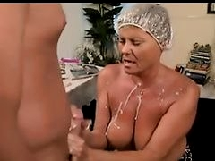 amazing mature cumming and femdom play
