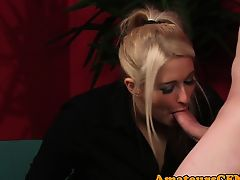Dominating milf orally fixating and jerking in cfnm