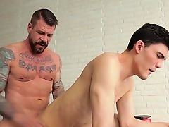 Big penis man-lover anal copulation with facial