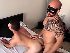 Muscle homosexual anal banging with spunk flow