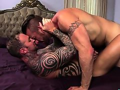 Tattoo twink flip flop with ejaculation